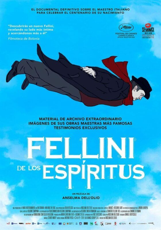 Cartel de la película documental Fellini de los espíritus